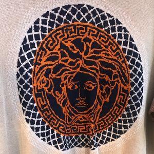 Versace Cream Sweater with Medusa Emblem